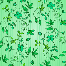 Floral Ornament - Green Plants...