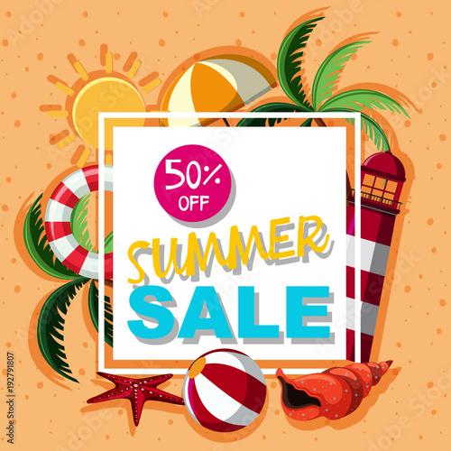 Poster design for summer sale © brgfx