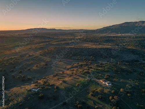 Foto op Aluminium Nachtblauw DRONE SUNSET