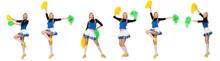 Woman Cheerleader Isolated On ...