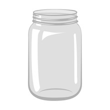 Empty Open Glass Jar Isolated ...