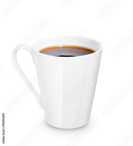 white mug with tea or coffee