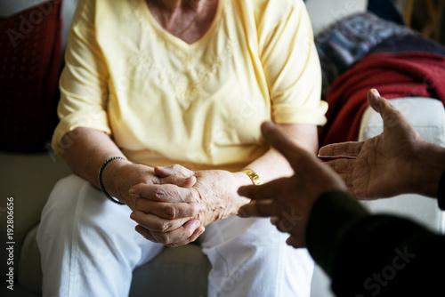 Valokuva  Senior people talking