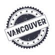 Leinwanddruck Bild - Vancouver Black grunge stamp isolated