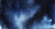 Leinwanddruck Bild - Starry night Deep dark sky with drops of stars. drawn by hand
