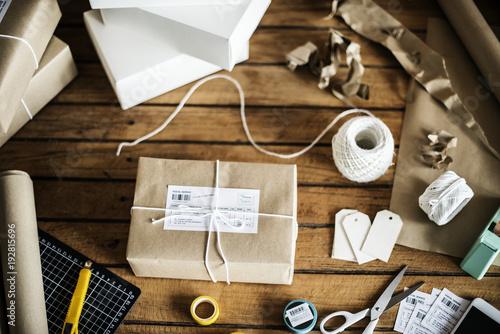 Fotomural  Closeup of parcel box