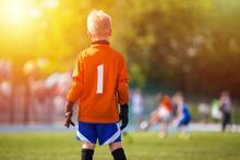 Young Soccer Goalie Goalkeeper...