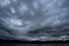 Dark Storm Clouds With Backgro...