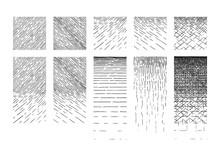 Set Of Hatching Gradient Texture