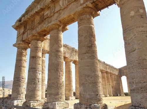 Obraz na plátně colonne tempio di segesta