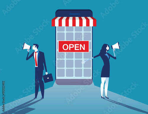 Online business Tapéta, Fotótapéta