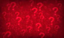 Red Question Mark Random Pattern Background.