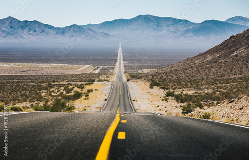 Aluminium Prints Route 66 Classic highway scene in the American West
