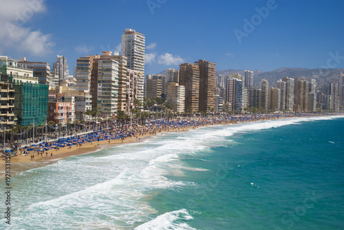 View of benidorm,Spain, in summer