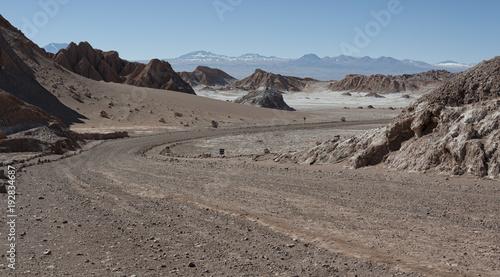 Papiers peints Cappuccino Valle de la Luna (Moon Valley) in Atacama Desert near San Pedro de Atacama, Antofagasta - Chile, South America