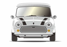 Classic Mini Car Vector