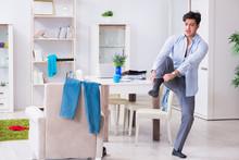 Businessman Late For Office Du...