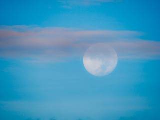Soft Moon on The Sky in The Daytime