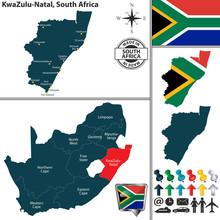 Map Of KwaZulu Natal, South Af...