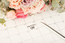 Word Wedding On Calendar With ...
