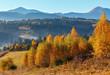 Autumn Carpathian village, Ukraine.