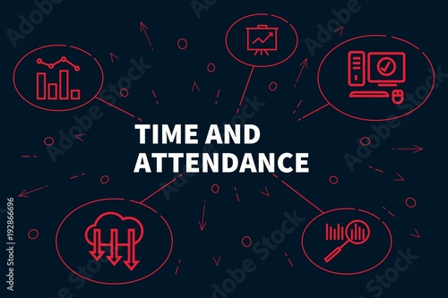 Photo Business illustration showing the concept of time and attendance