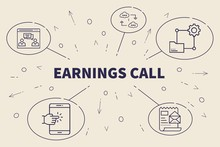 Business Illustration Showing The Concept Of Earnings Call