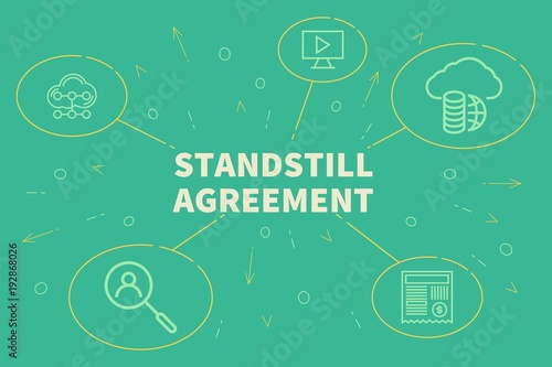 Business Illustration Showing The Concept Of Standstill Agreement