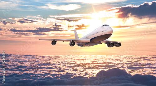 Obraz Samolot w pięknej scenerii - fototapety do salonu