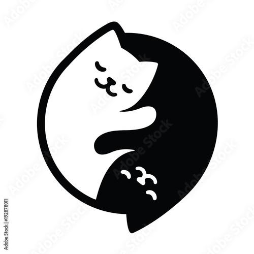 Fotografie, Obraz  Yin Yang Cats