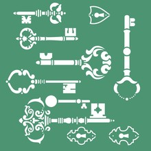 Keys Stencils Art Set