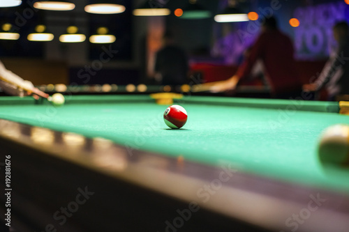Papel de parede billiard balls on the table