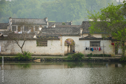 In de dag China beautiful view of Hongcun village, China.