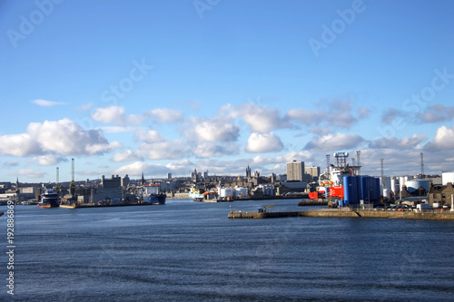Photo Harbour in Aberdeen, Scotland, United Kingdom. February 2018