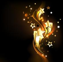 Three Soaring Gold Stars