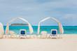 Empty Sunshades on the beach