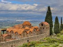 Byzantine Monastery In Mystras...