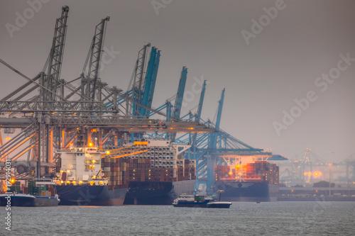 Poster Antwerpen Rotterdam europoort industrial harbor landscape