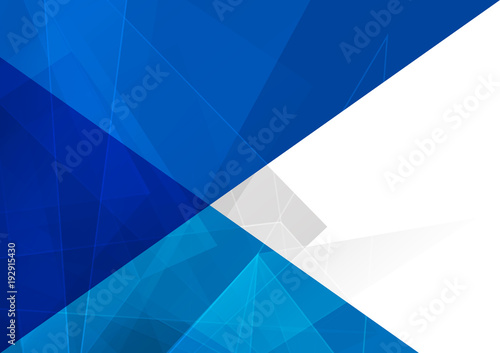 Abstract geometrical and blue with triangle background. illustration vector design - 192915430