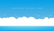 シームレスな海の景色