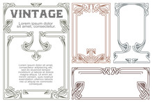 Vector Vintage Labels On Diffe...