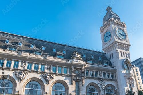 Foto auf AluDibond Bahnhof Paris, gare de Lyon, railway station, facade and clock
