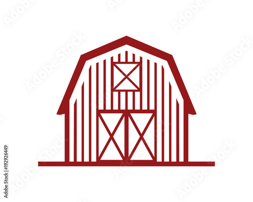 Photographie Line Art Red Barn Building Symbol Logo Vector