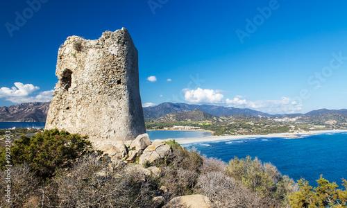Torre di Porto Giunco, Sardegna Canvas Print