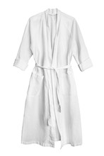 White Bathrobe Isolated