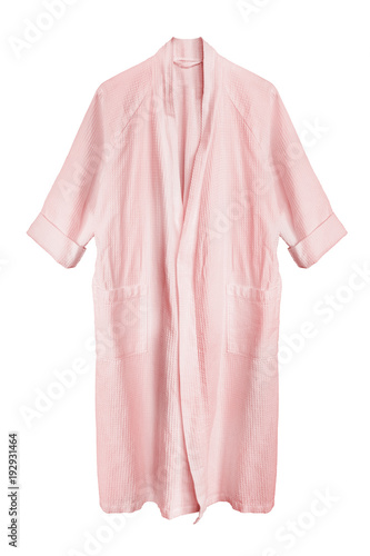 Fotografering Pink bathrobe isolated