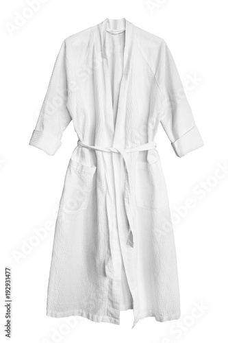 White bathrobe isolated Wallpaper Mural