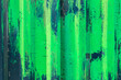 Leinwanddruck Bild - Metal fence with green and white paint, background, texture
