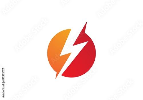 Photographie  Lightning Logo Template