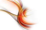 Niesamowite streszczenie pomarańczowy fraktal fale projekt płomienie koncepcja - 192942881